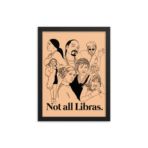 Not All Libras Icons Framed Poster