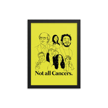 Load image into Gallery viewer, Not All Cancers Icons Framed Poster
