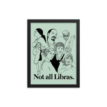 Load image into Gallery viewer, Not All Libras Icons Framed Poster