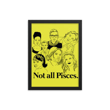 Load image into Gallery viewer, Not All Pisces Icons Framed Poster