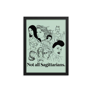 Not All Sagittarians Icons Framed Poster