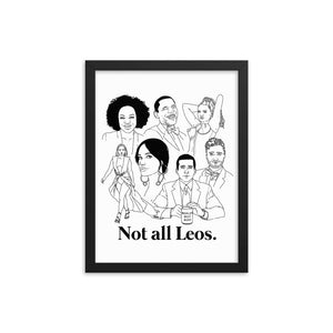 Not All Leos Icons Framed Poster