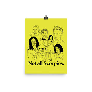 Not All Scorpios Icons Poster