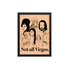 Load image into Gallery viewer, Not All Virgos Icons Framed Poster