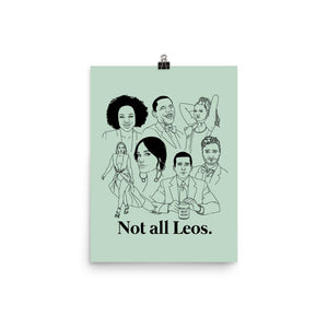 Not All Leos Icons Poster