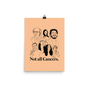 Not All Cancers Icons Poster