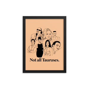 Not All Tauruses Icons Framed Poster