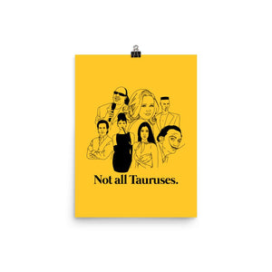 Not All Tauruses Icons Poster