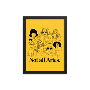 Not All Aries Icons Framed Poster
