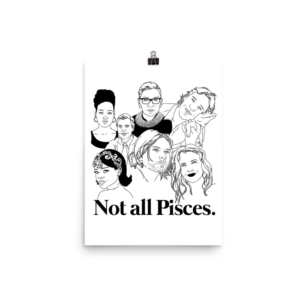 Not All Pisces Icons Poster
