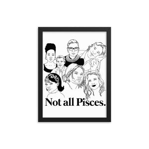 Not All Pisces Icons Framed Poster