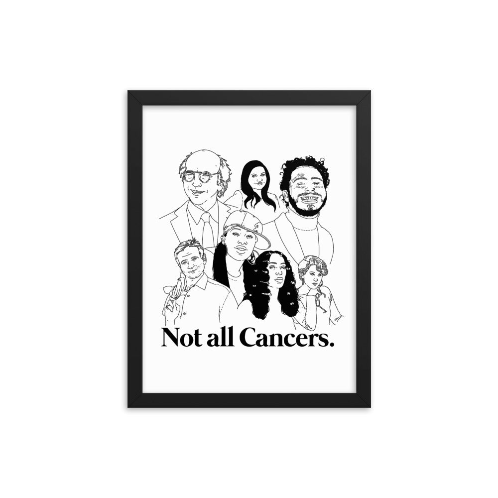 Not All Cancers Icons Framed Poster