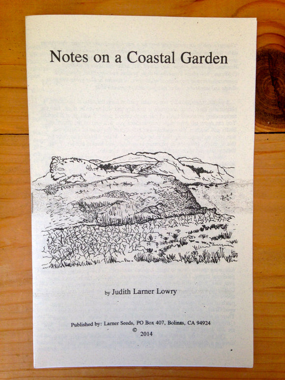 Notes on a Coastal Garden