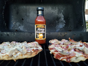 Pizza With Honey Bourbon Sauce