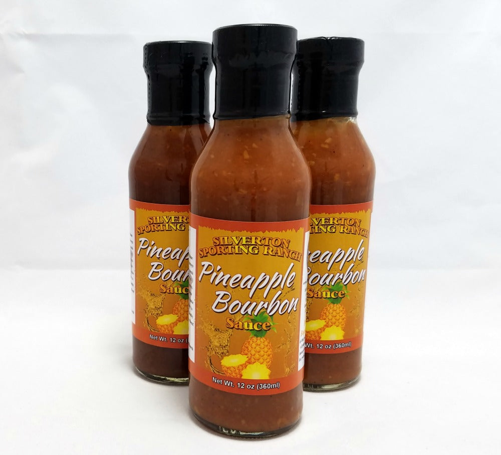Pineapple Bourbon Sauce 3 pack - Silverton Foods Best BBQ Sauces