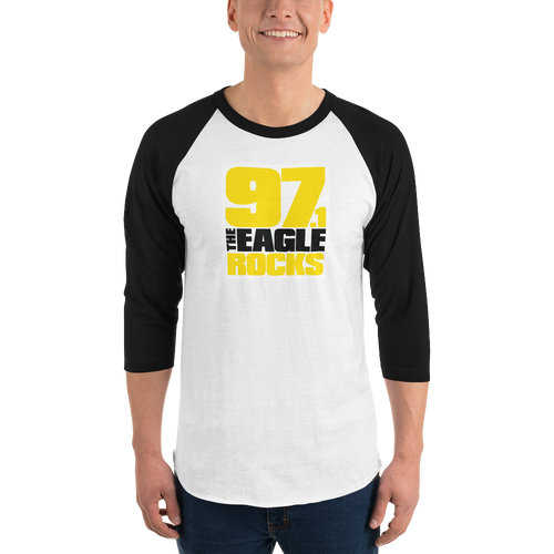 WHITE 97.1 The Eagle Baseball T-Shirt