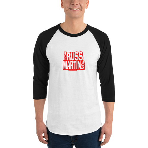WHITE The Russ Martin Show Baseball T-Shirt