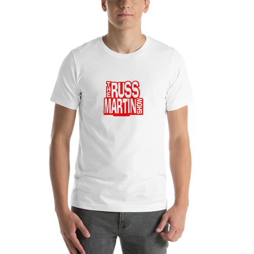 WHITE The Russ Martin Show Premium Unisex Short Sleeve