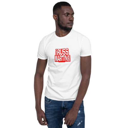 WHITE The Russ Martin Show Unisex Short Sleeve