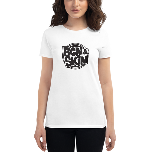 WHITE Ben & Skin Ladies Premium Short Sleeve