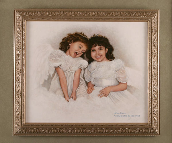 """Angels"" Oil on LInen"