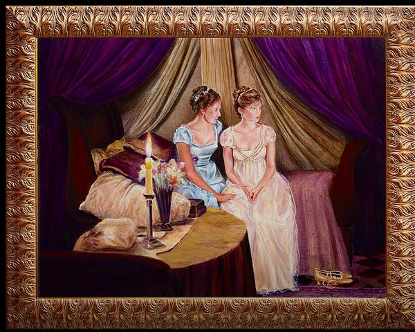 """Two Baroque Girls"" Original Oil Painting"