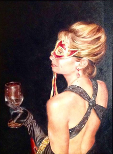 """Masquerade"" Oil on Linen"