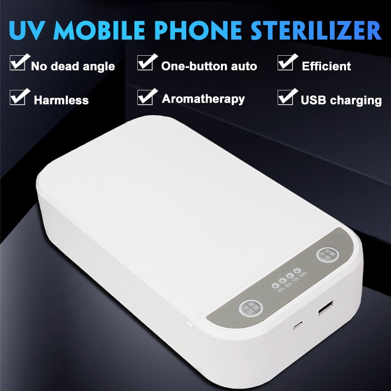 UV Face Mask Sterilizer Box Anti Bacteria Ultraviolet Ray Disinfection for Jewelry Watch Phone Charging Multifunctional Box