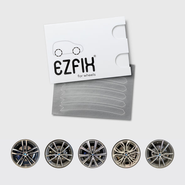 BMW car wheel rim scratch repair kit in polished metal