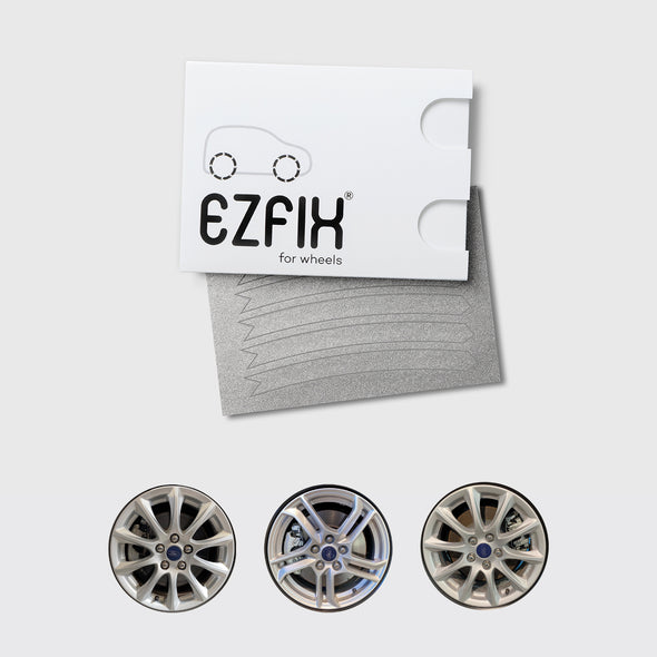 Ford car wheel rim scratch repair kit in  sparkle silver