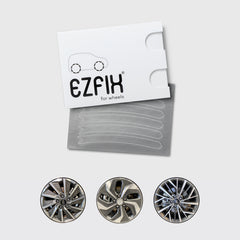 Hyundai car wheel rim scratch repair kit in polished metal