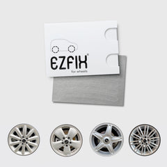 Mini car wheel rim scratch repair kit in mercury chrome