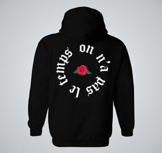 """ON-NA-PAS-LE-TEMPS"" Black Hoodie - UNISEX"