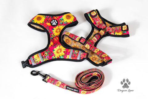Dayzee Lane Sunflower and Butterflies Harness