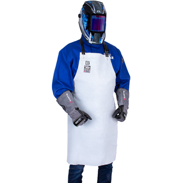 Blue Max A2 Chrome Leather Bib Style Apron with Webbing Straps