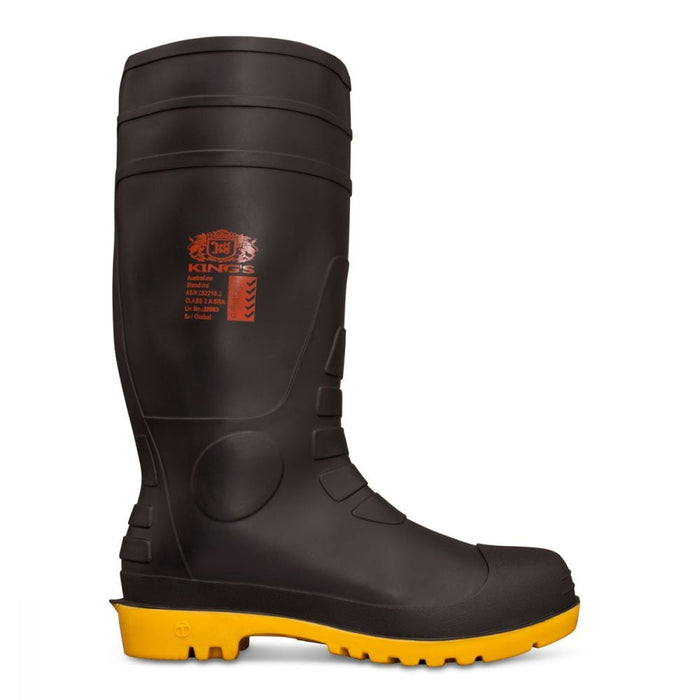Kings Black Safety Gumboot