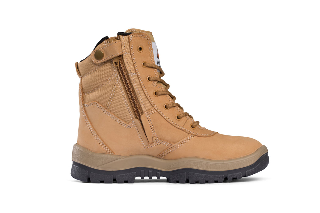 Mongrel High Leg Zip Wheat Safety Boot