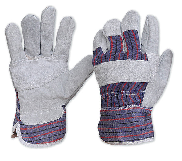 Leather Candy Stripe Gloves