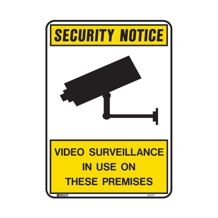 Security Notice Video Surveillance In Use on These Premises Sign - Self Adhesive Vinyl