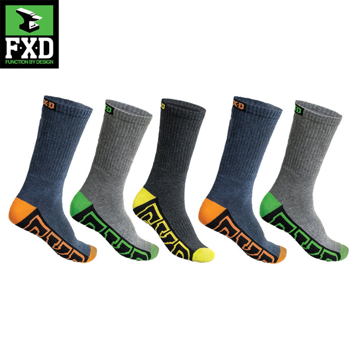 FXD Mens Crew Socks 5 Pack