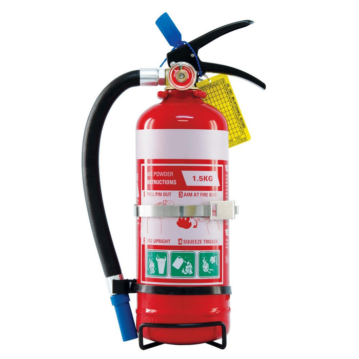 Fire Extinguisher ABE 1.5 kg complete with Vehicle Bracket
