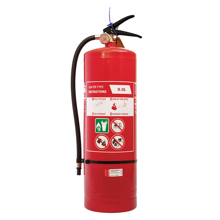 Fire Extinguisher Air/Water 9 L complete with Wall Bracket