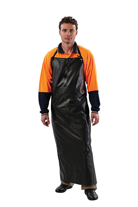 Black Full length PVC Apron