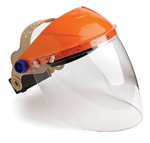 Face protection browguard with clear visor