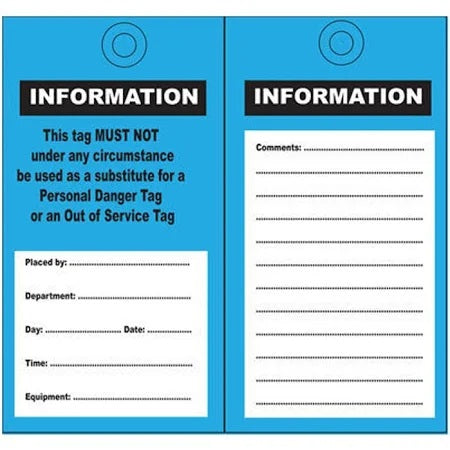 Information Tag Blue