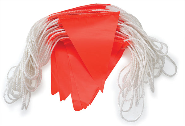 Orange PVC Bunting flags 30 m Day Only