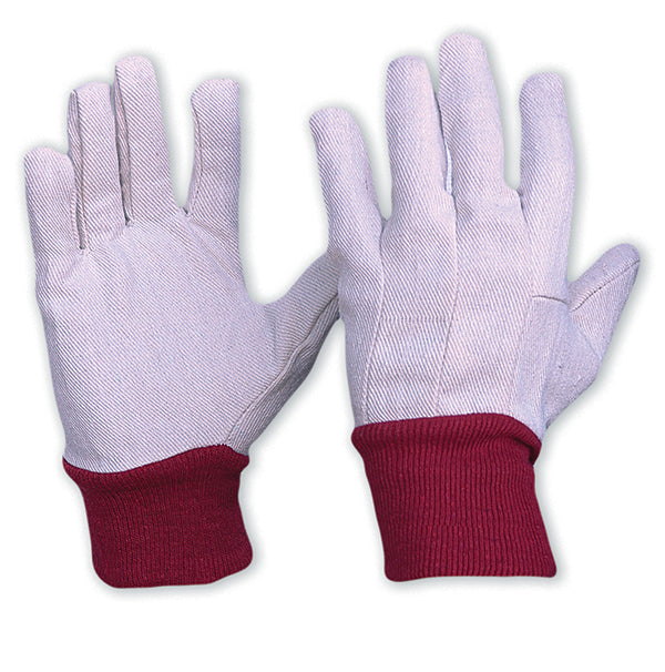 Cotton Drill Knit Wrist Gloves