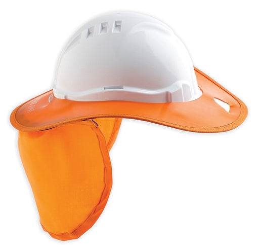 Detachable Plastic Hard Hat Brim with Neckflap
