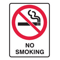 Small Stick On Labels - No Smoking