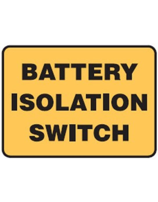 Battery Isolation Switch - Self Adhesive Vinyl